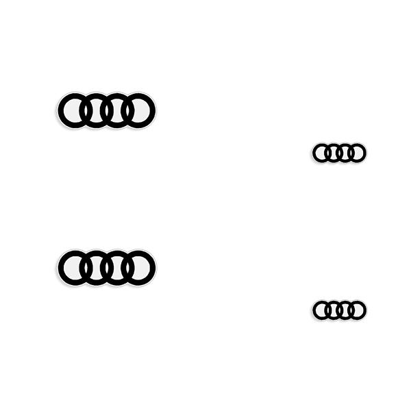 "Audi ""Rings"" Brake Caliper Decals - Any Color!"