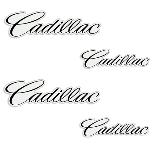 Cadillac Brembo Brake Caliper Decals - Any Color!