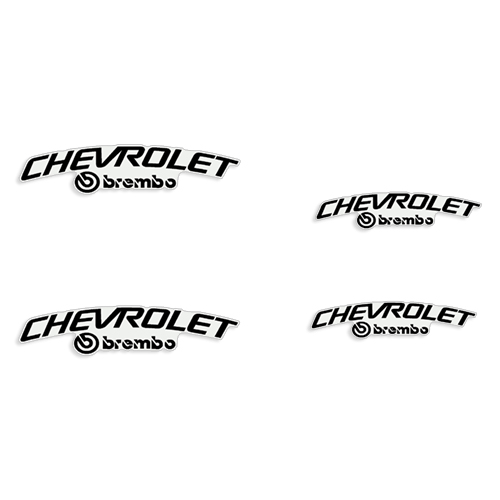 Chevrolet Brembo Brake Caliper Decals - Any Color!