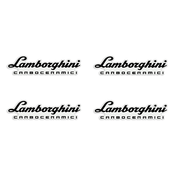 Lamborghini Huracan / Aventador Carboceramici Brake Caliper Decals - Any Color!