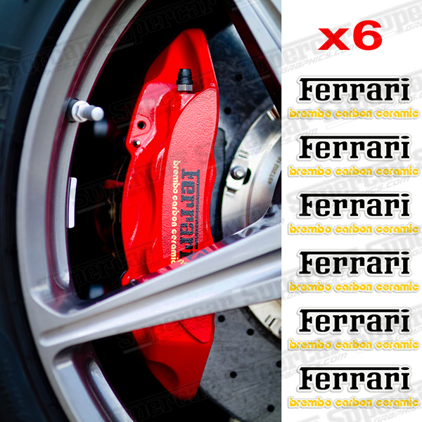 Ferrari Brembo Carbon Ceramic Brake Caliper Decals - FER-BREM-BC