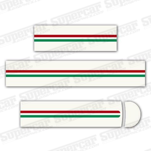 Ferrari 360 Challenge Stradale, Tri-Color Stripe Decal Kit