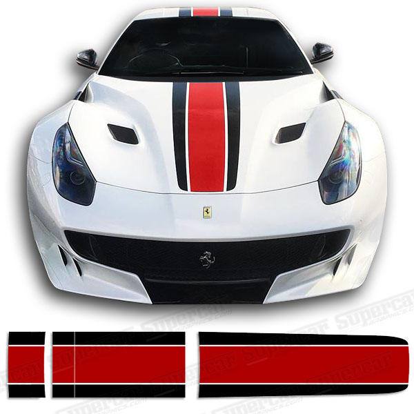 Ferrari F12 2-Color Stripe Decal Kit - Style 1