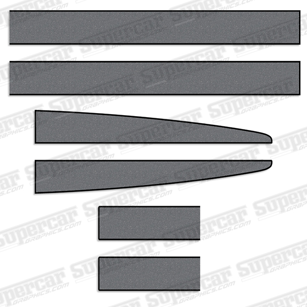 Ferrari 360 Scuderia Stripe Decal Kit - Black/Met. Slate