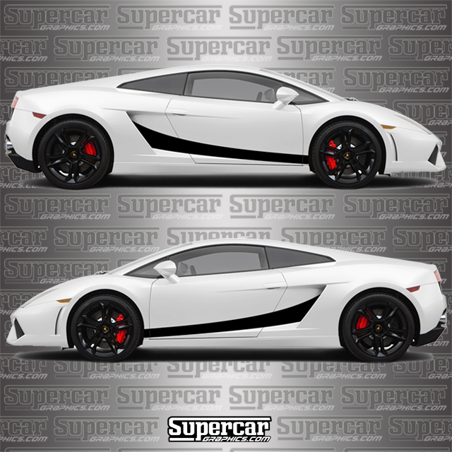 Lamborghini Gallardo SuperLeggera Style Stripe Kit - Version 2