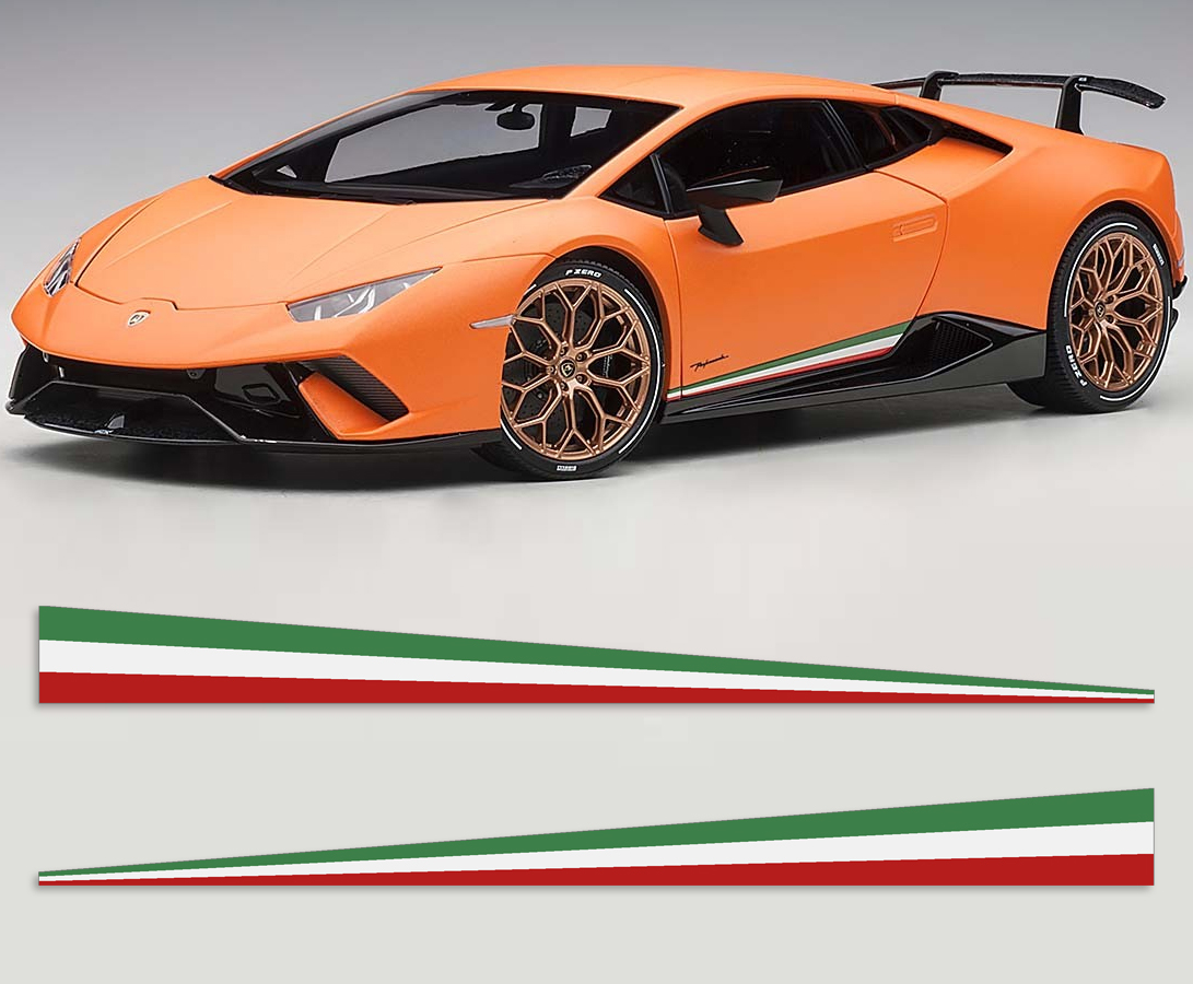 Lamborghini Huracan Performante Style Tri-Color Stripe Kit